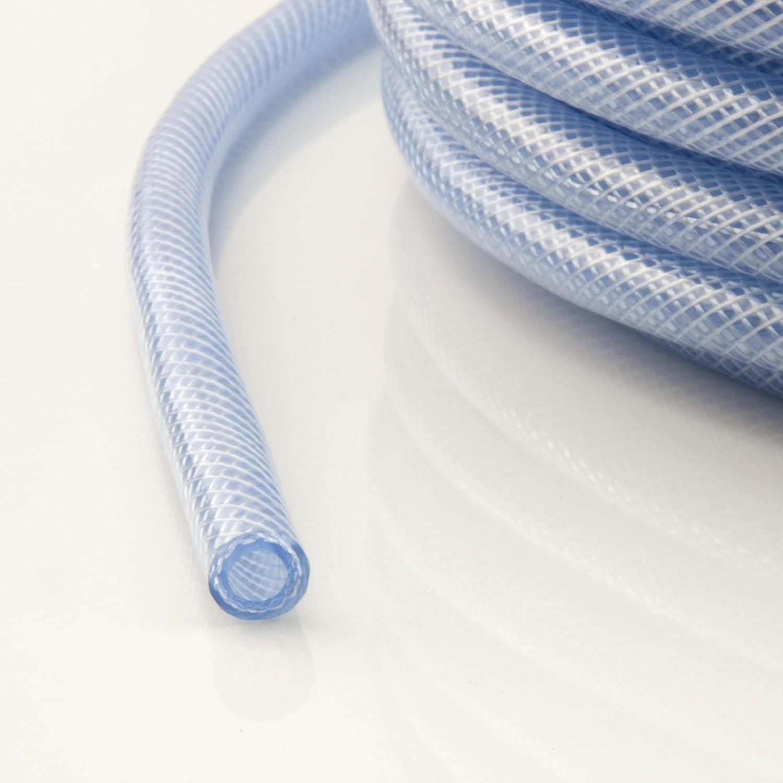 5m hose reinforced PVC 19//25mm transparent