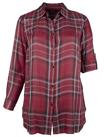 59c1f28f Lauren Ralph Lauren Women's Plus Size Plaid Button Down Shirt at Amazon  Women's Clothing store: