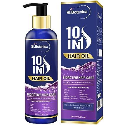 Botanica 10 en 1 pelo aceite (Jojoba, almendra, Castor, oliva