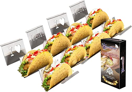 Ortarco Taco Holders 5 Pcs Taco Stand Holds up to 4 Taco Shell Taco Tray Rack