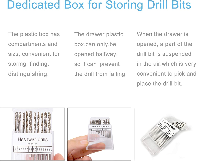 20 Pcs Mini Twist Hand Drill Bits Silicone Keychain Epoxy Resin ...