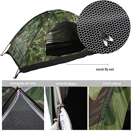 Bag US Waterproof 1-4 Person Camping Tent Outdoor Hiking Family Travel Folding