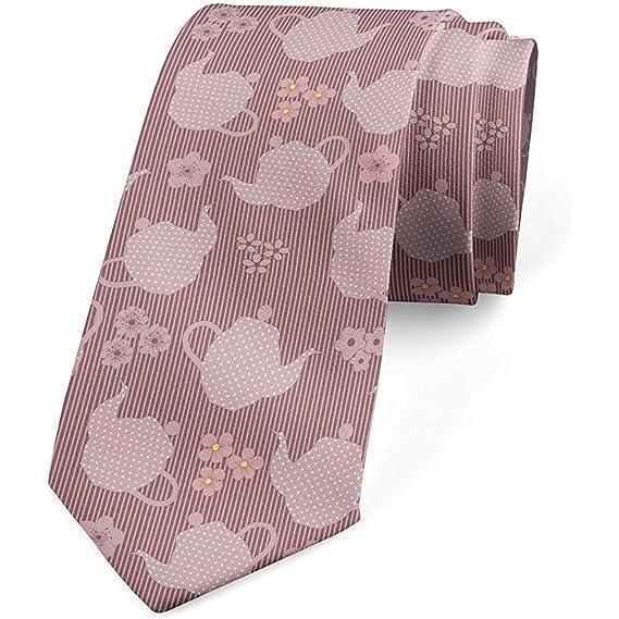 Mathillda Corbata para hombres, teteras y flores punteadas, rosa ...