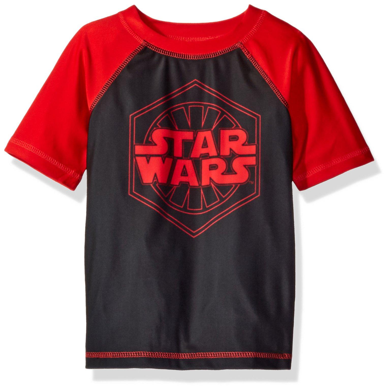 Star Wars Big Boys' Rashguard, Red, 4
