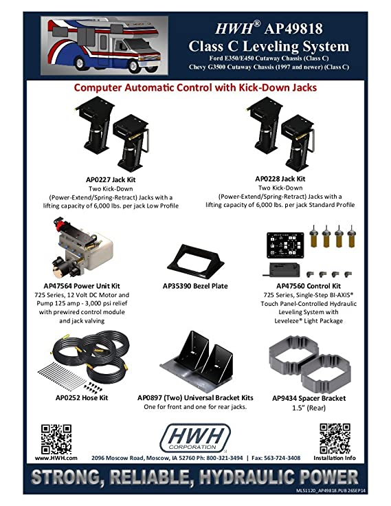 HWH AP49818 Class C Leveling System
