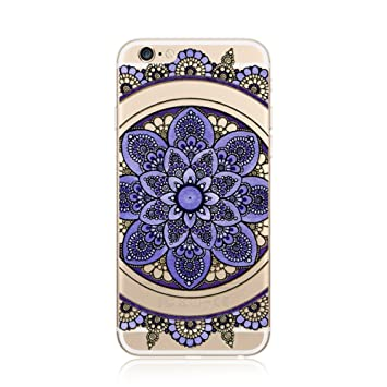 037e6f56676 for iPhone SE iPhone 5 5S Case Cover TPU, CrazyLemon Non-slip Flexible Soft  TPU Silicone Gel Transparent Variety Colorful Mandala Flower Pattern  Printed ...
