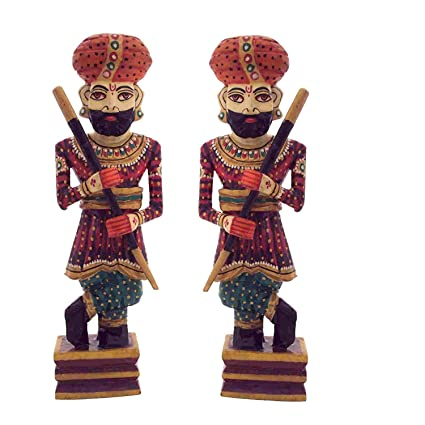 Amazon Com Etsibitsi Handcrafted Decorative Rajasthani Chowkidar