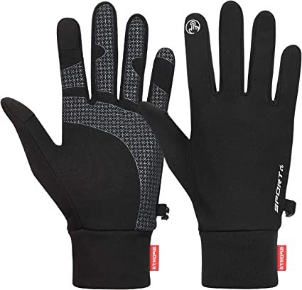 Thin Black Liners Gloves for Running Hiking Driving Cycling Cevapro Running Gloves Men Women
