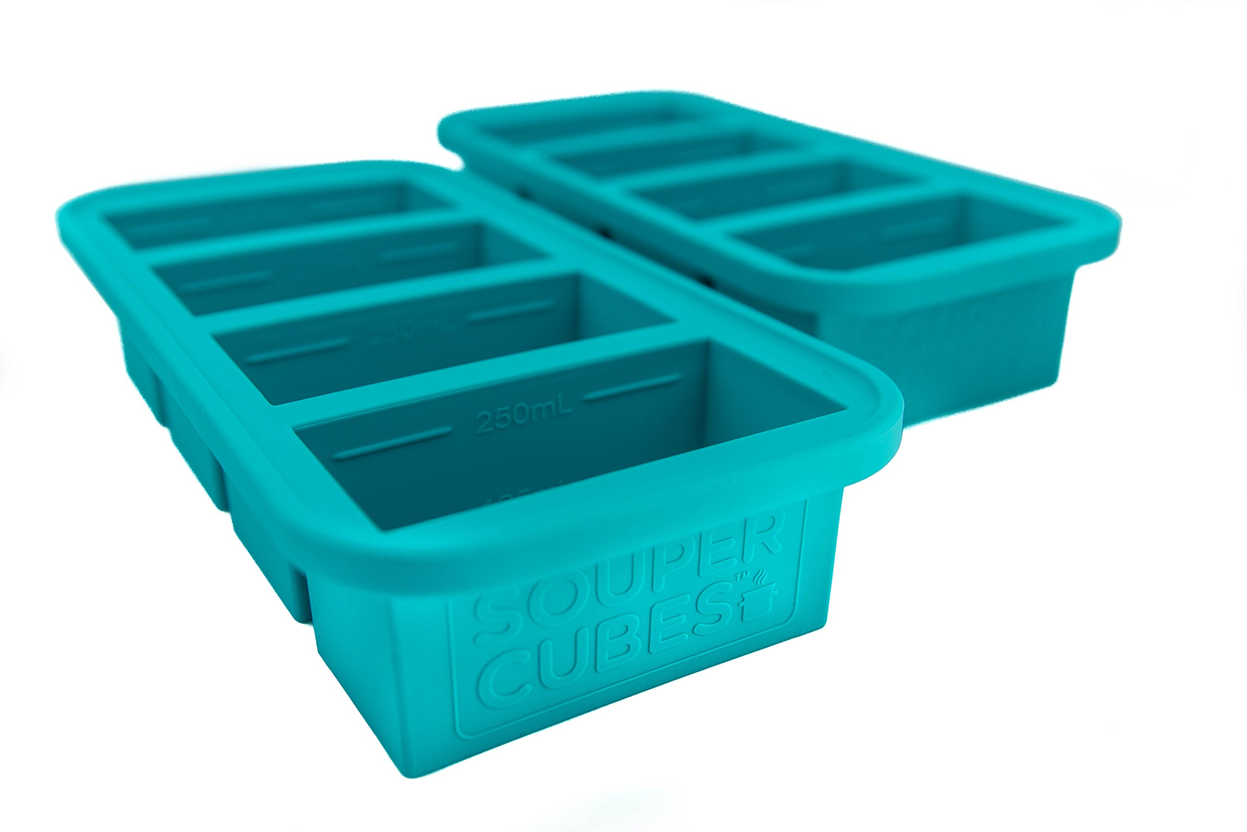 Souper Cubes Extra-Large Silicone Ice Cube Tray - 2 pack - makes 8 perfect 1cup portions - freeze soup broth or sauce