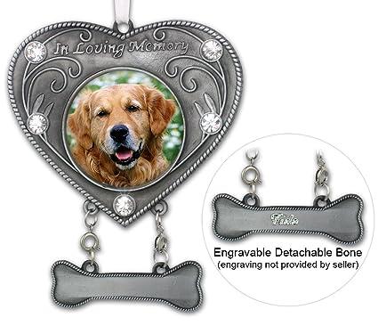amazon com dog memorial photo ornament in loving memory dog