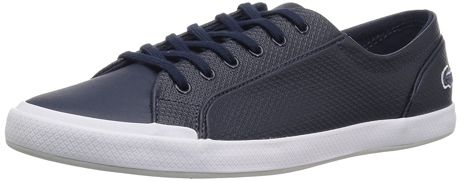 Lacoste Women's Lancelle 6 Eye Sneakers B072VDRKDP 5.5 B(M) US|Nvy/Ltgry Leather