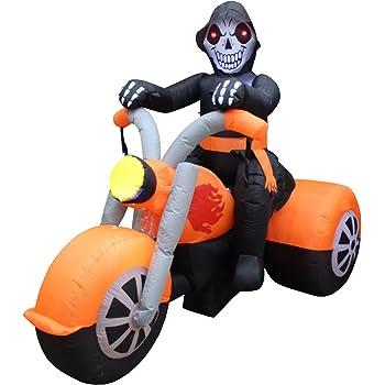 Amazon.com: 6 Foot Long Halloween Inflatable Skeleton