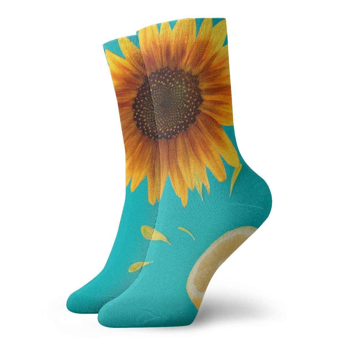 Sunflower Fashion Dress Socks Short Socks Leisure Travel 11.8 Inch