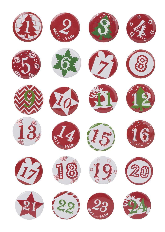 Chiffres calendrier de l'Avent « Buttons » FOLIA