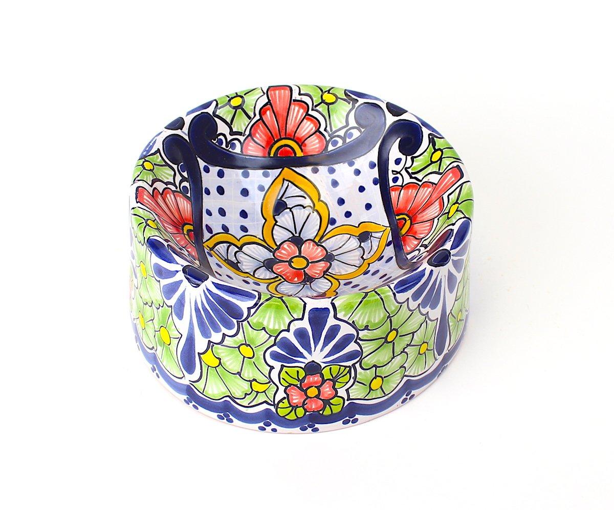 Hand-painted Ceramic Dog Bowl   Bella Hacienda   Medium