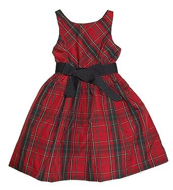 0896a1cb39d0 Ralph Lauren Polo Girls Taffeta Plaid Fit   Flare Sleeveless Party Dress ...