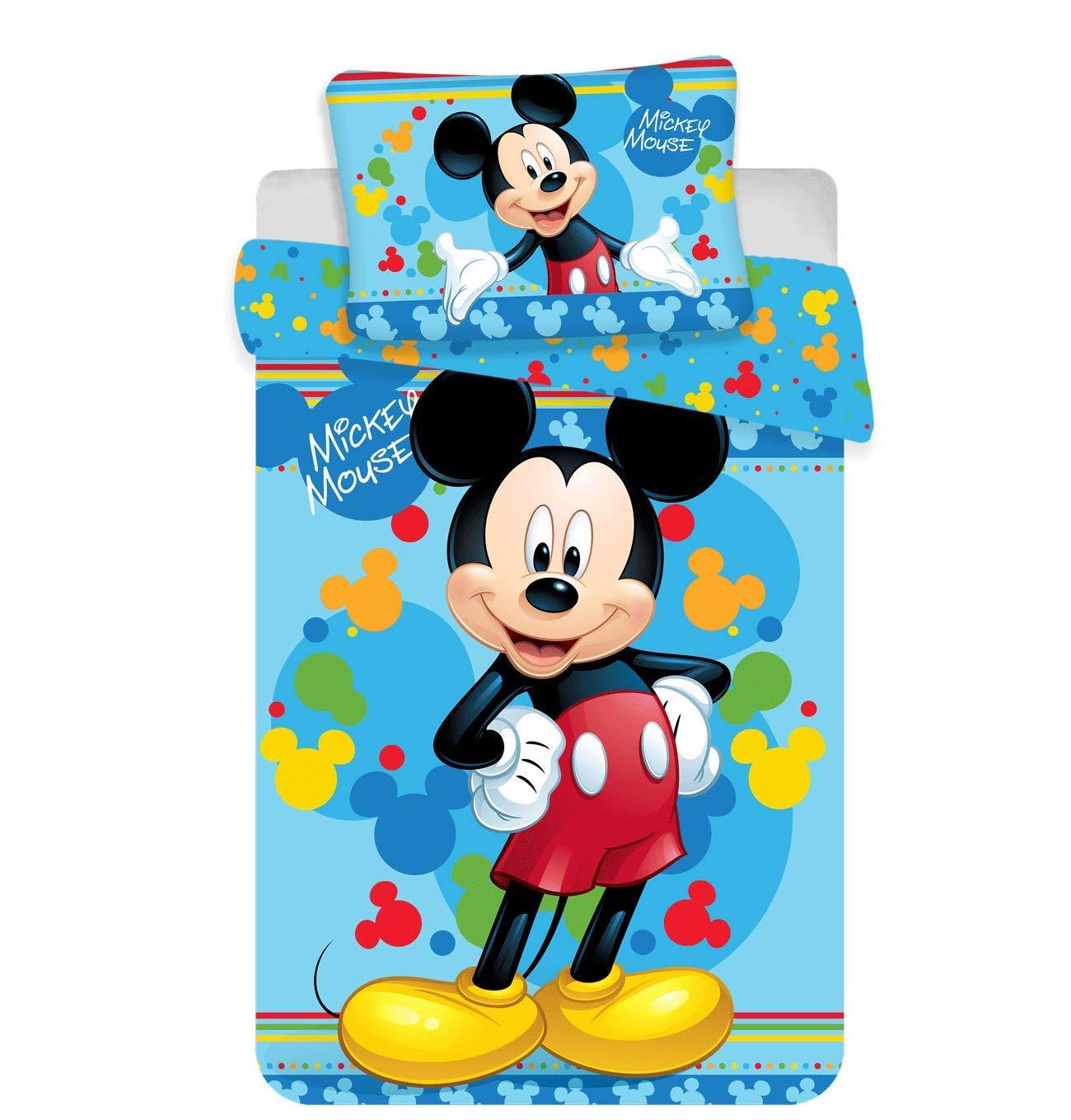 100x135 cm mit Rei/ßverschluss Bambi Kinderbettw/äsche Disney III 2-teilig 100/% Baumwolle 40x60
