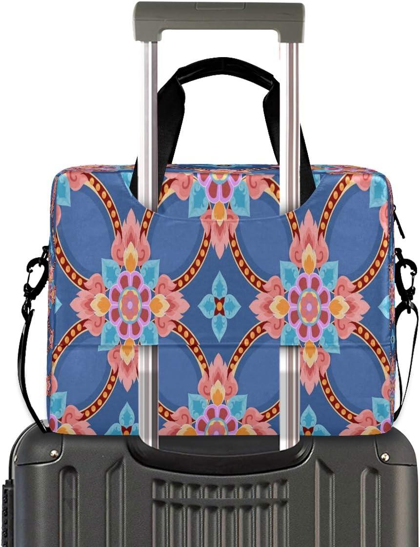 Textile Flower Boho Stye 15.6 Inch Tote Bag Laptop Messenger Shoulder Bag Case Notebook Bag Laptop Bag Briefcase Shoulder Bag Great to Business School