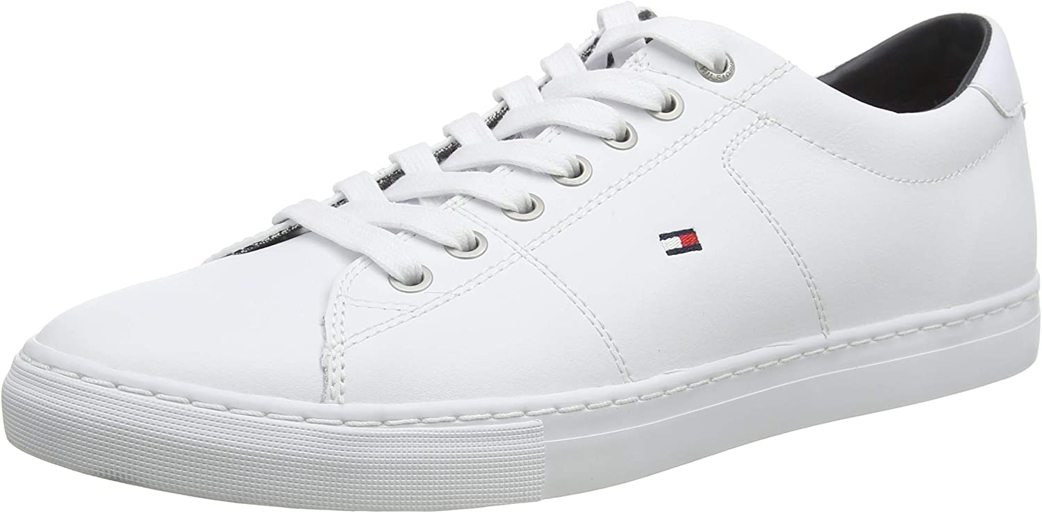 Tommy Hilfiger Essential Leather Sneaker, Zapatillas para Hombre