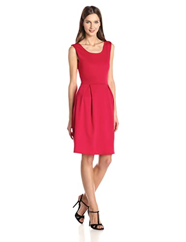 Star Vixen Women's Sleeveless Box-Pleat Skater Dress