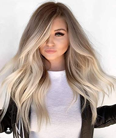 Sunny 18 Half Wig Human Hair Ombre U Part Wigs With Clips 10 Light Brown To 60 Platinum Blonde