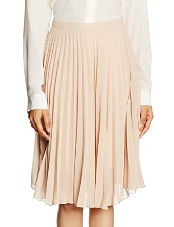 Fashion Union Applejack, Falda para Mujer, Beige (Nude), 38 ...