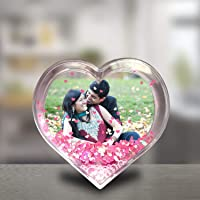 Ragi Love Glass Photo Frame (Floating Hearts Glass Photo Frame)