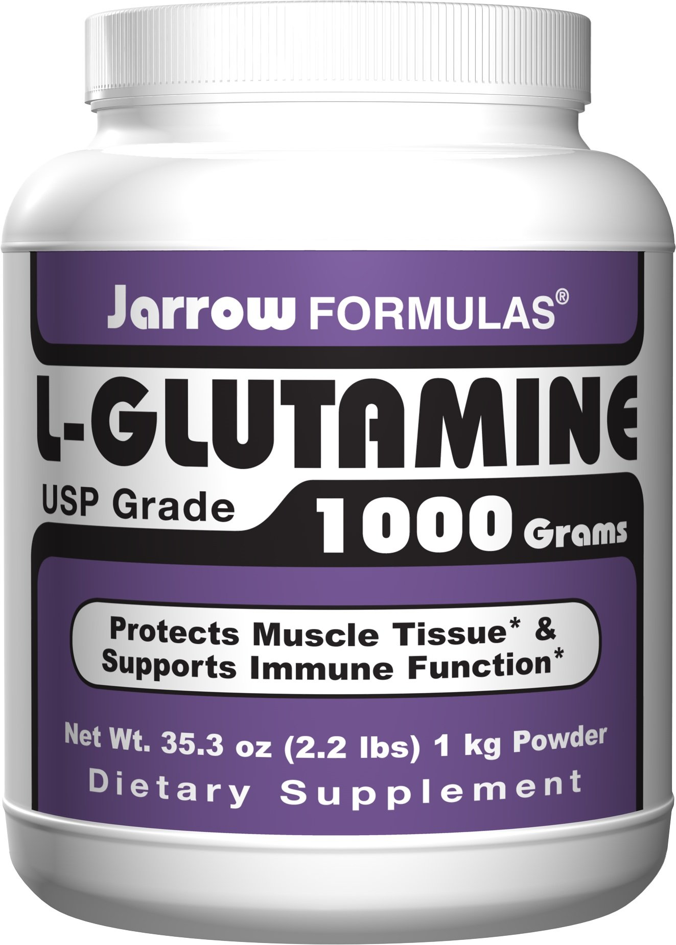 Jarrow Formulas, L-Glutamine, 35.3 oz (1000 g) Powder (FOUR PACK)