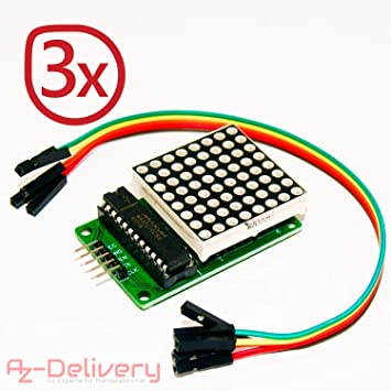 AZDelivery MAX7219 8x32 4-in-1 Dot Matrix MCU LED Display Module for