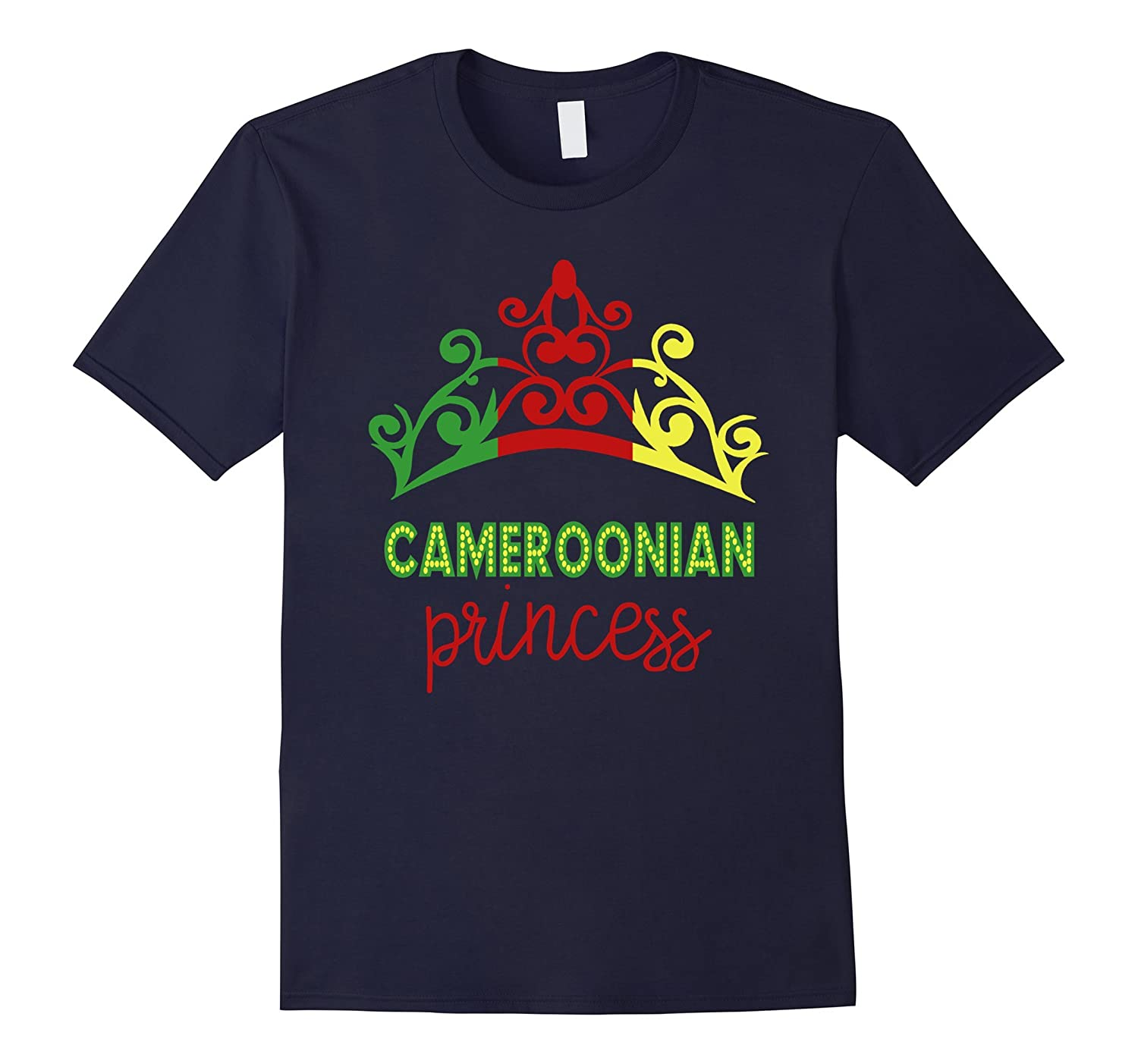 Cameroonian Princess Tiara National Flag T-Shirt-Vaci