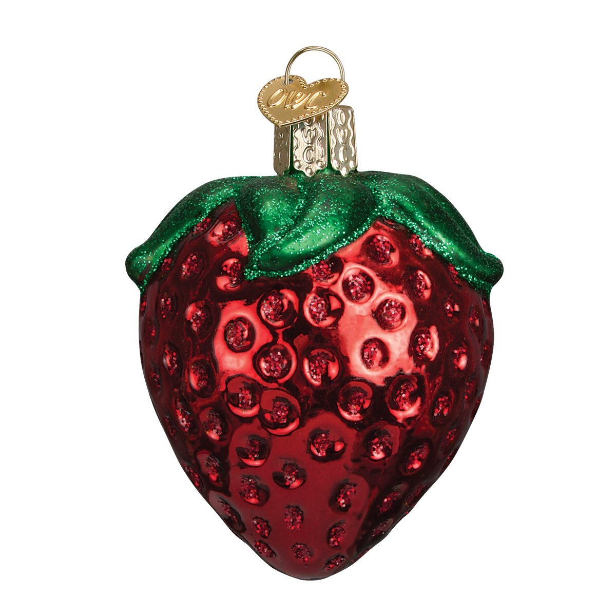 Old World Christmas Summer Strawberry Glass Blown Ornament