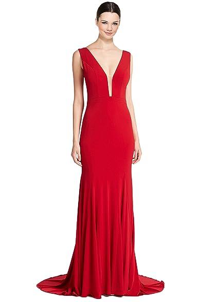 Jovani Sleeveless Deep V-Neck Mermaid Evening Gown Dress