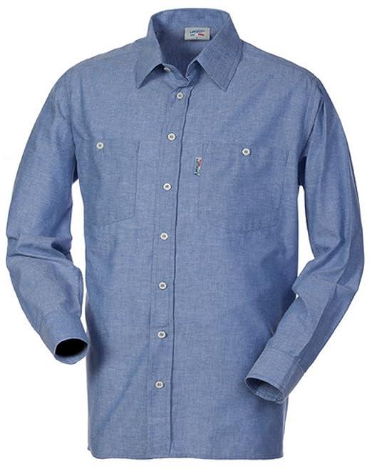 dd4b5d04553678 LANCELOT Camicia Uomo da Lavoro Cotone Oxford Azzurra Manica Lunga HH026:  Amazon.it: Abbigliamento