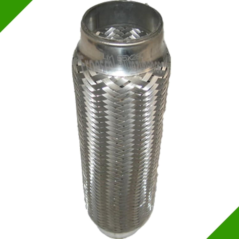 55x280mm Flexrohr Flexst/ück Flexteil Flexibles Rohr Auspuff Universal