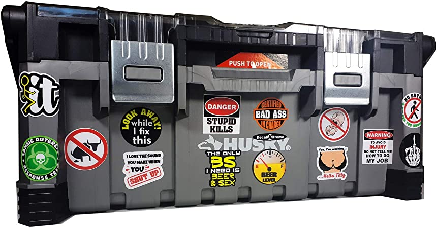 """Certified Bad Ass 2 PACK 4/"""" tall each funny decals Journeyman Stickers"""