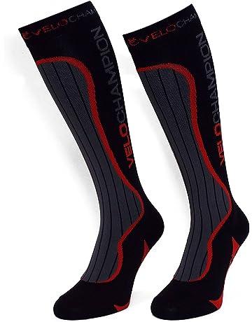 VeloChampion Calcetines Compresión Deporte - Ciclismo, Running, Triatlón (Negro) Compression Sports Socks