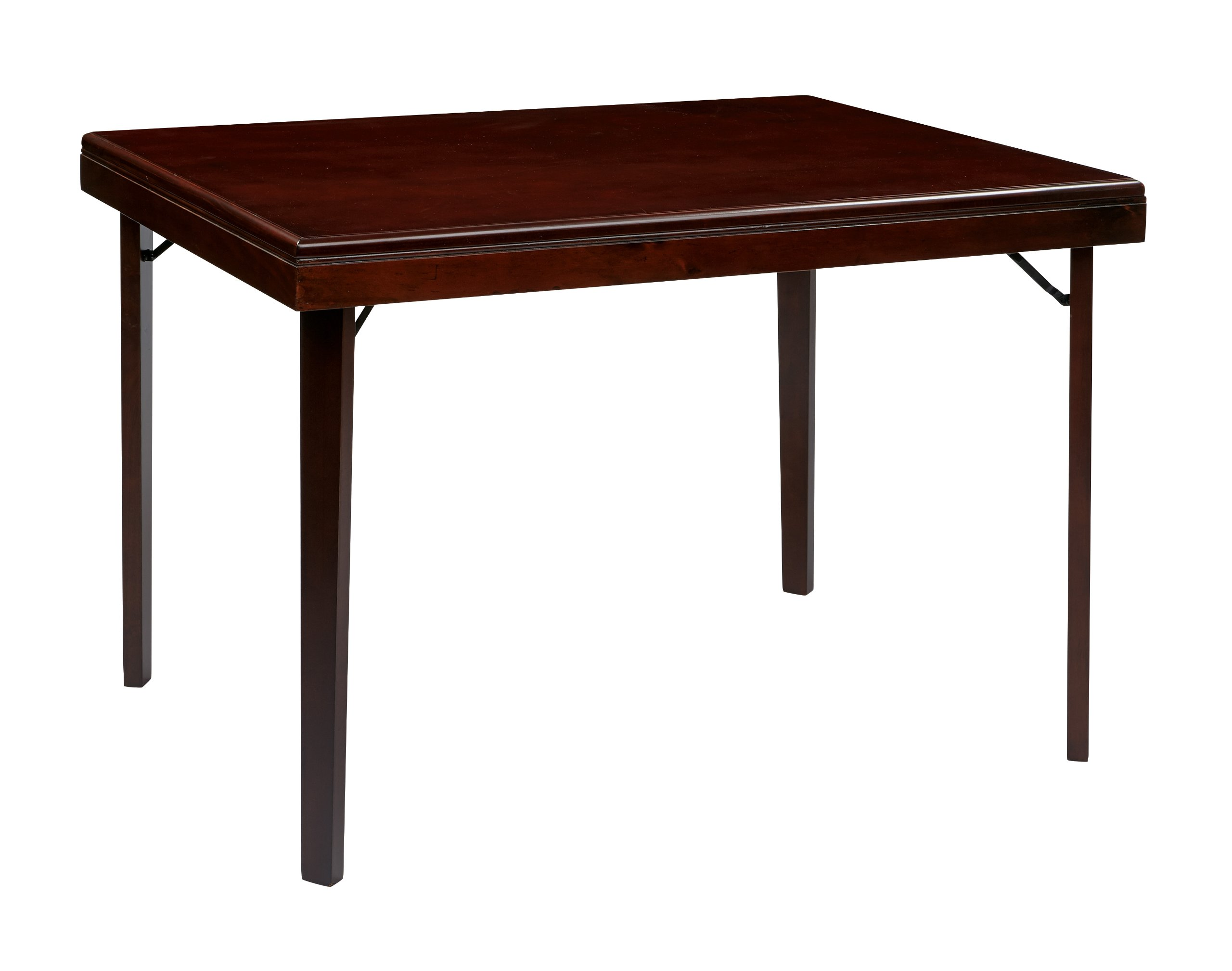 Office Star Hacienda Wood and Veneer Folding Table, Espresso