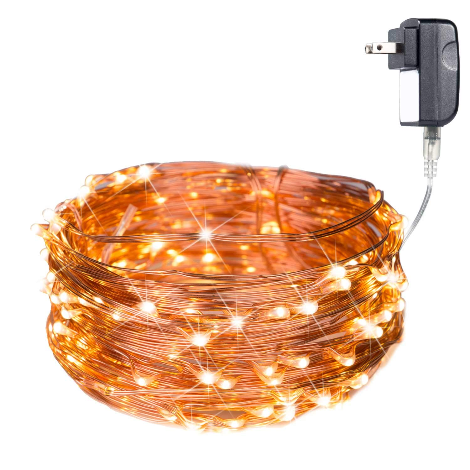Details About 40 Feet Starry String Lights Warm White Color Led S On A Flexible Copper Wire