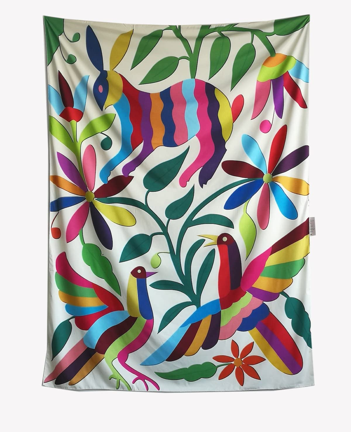 Otomi Rabbit Wall Tapestry Fabric Wallpaper Home Decor,60x 80,Twin Size