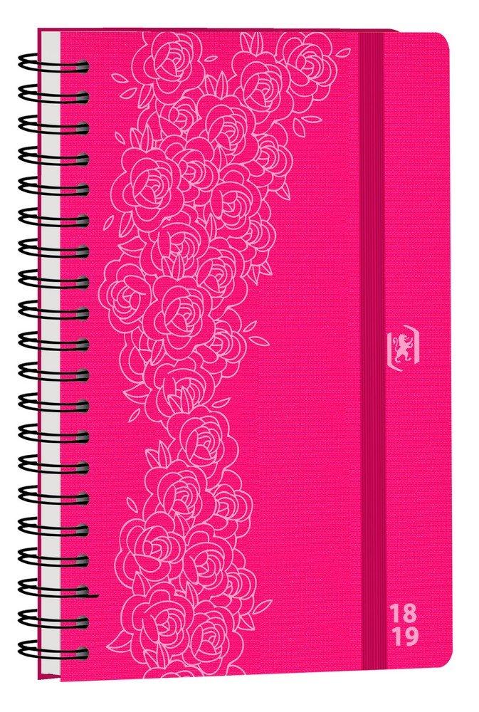 Oxford So Chic Agenda Scolaire semainier 2018-2019 1 semaine par 2 Pages 160 Pages 10 x 15 cm Noir Rosace 400093906