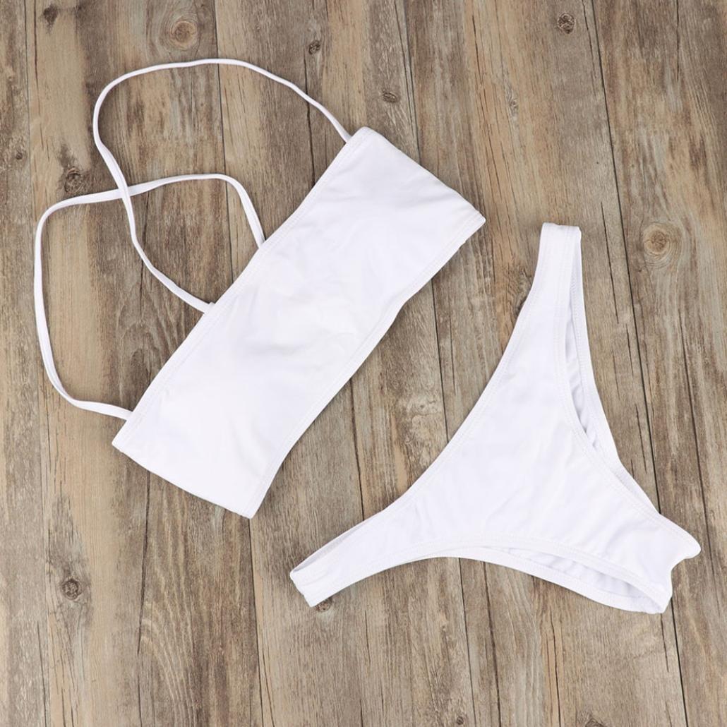 SHOBDW Las Mujeres de Moda de Verano Mediados de Cintura Vendaje Bikini Tanga Traje de Baño de Playa Trajes de Baño Ropa Interior: Amazon.es: Ropa y ...