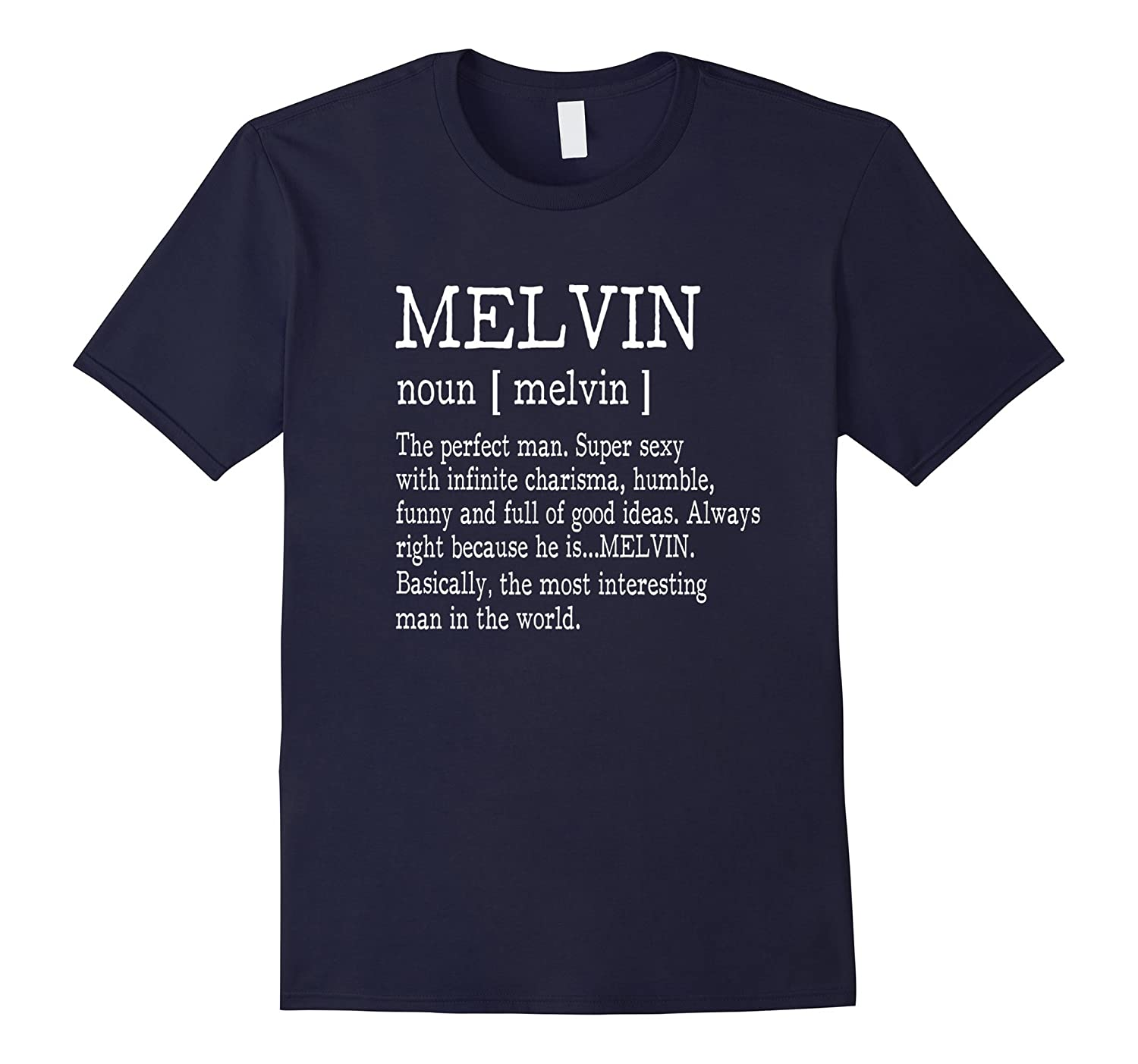 Adult Definition - First Name Melvin Men T-Shirt Funny-FL