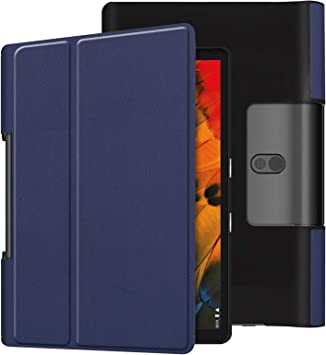 Amazon Com Case For Lenovo Yoga Smart Tab Yt X705f 10 1 Inch Smart Cover Etui With Stand And Auto Sleep Wake Feature Blue Computers Accessories