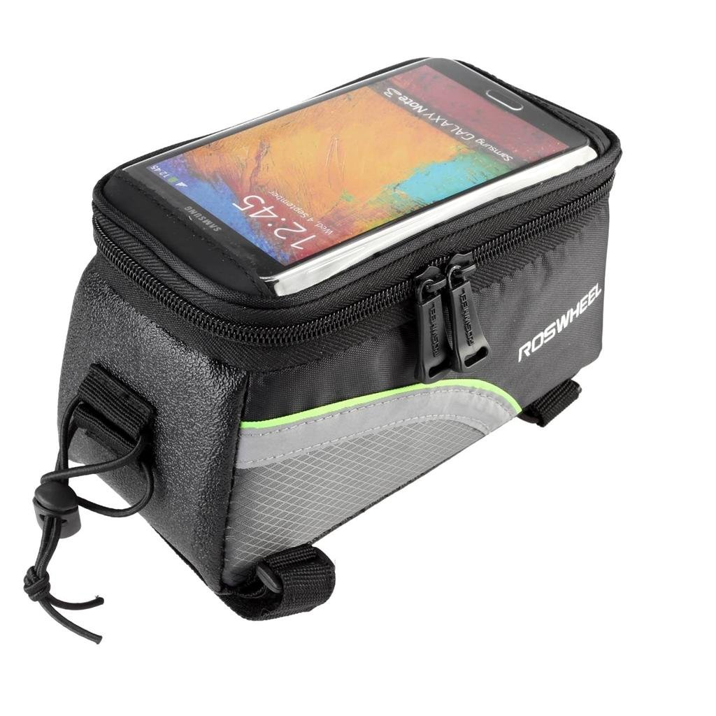 LG G3//2 head tube bag Samsung Galaxy Note 4//3//2 cycling front tube phone bag holder with super clear PVC screen for iphone 6s//6//5s//5//4s//4 ROSWHEEL Bicycle bike frame bag S5//S4//S3 Sony Xperia Z3//Z2//Z Lohai cycling
