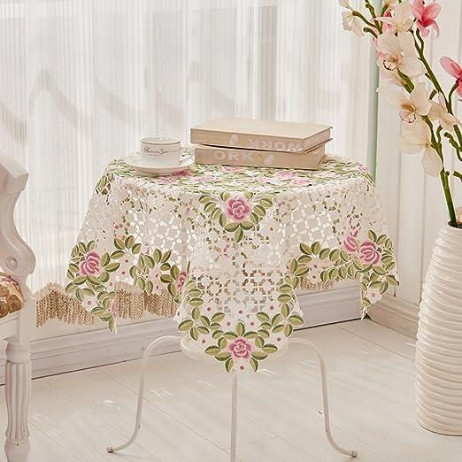 ropa de cocina Mesa de centro manteles de mesa redonda Pastoral ...