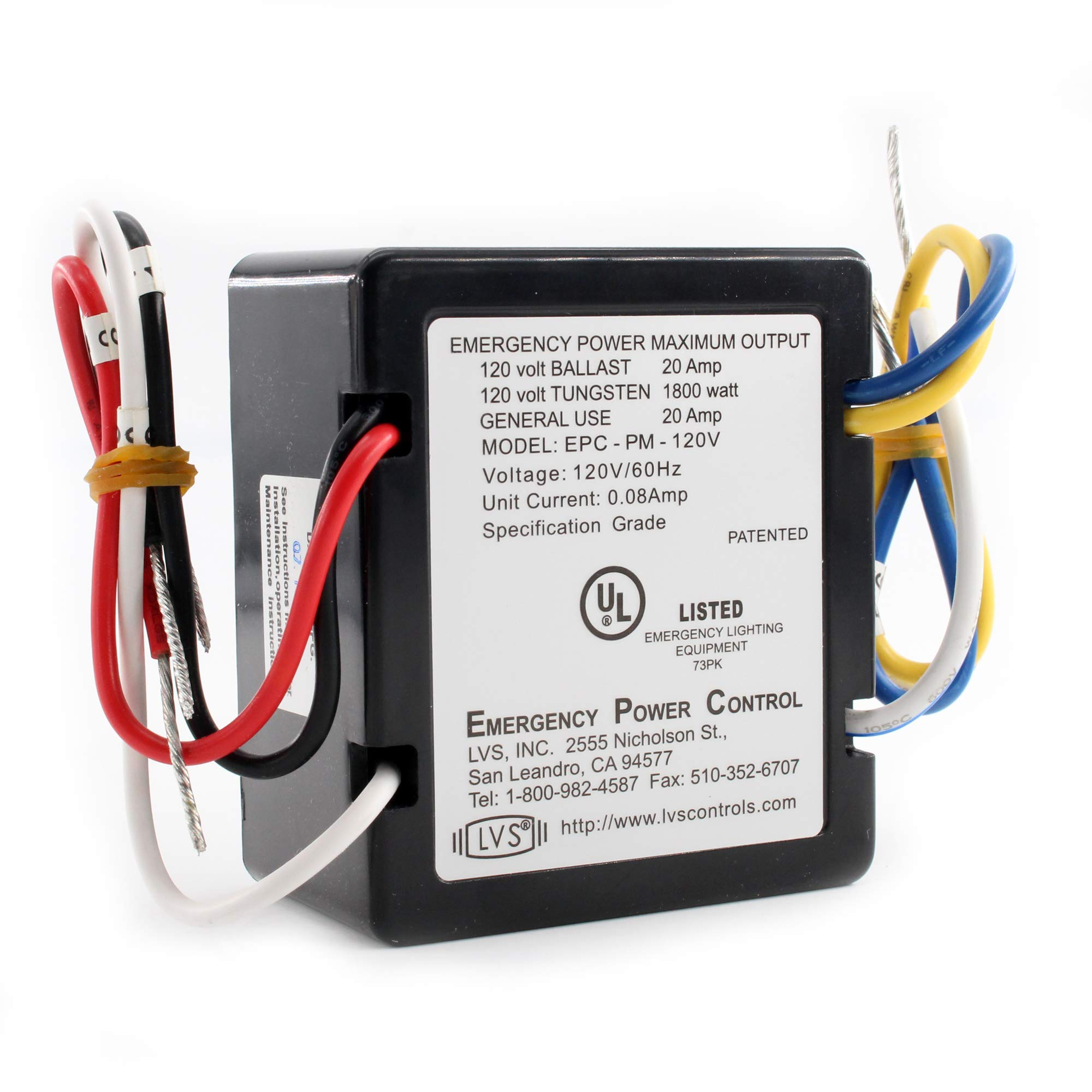 LVS Controls HEPC-120V Emergency Power Control, 120V, 20A, 60Hz by LVS Controls (Image #2)