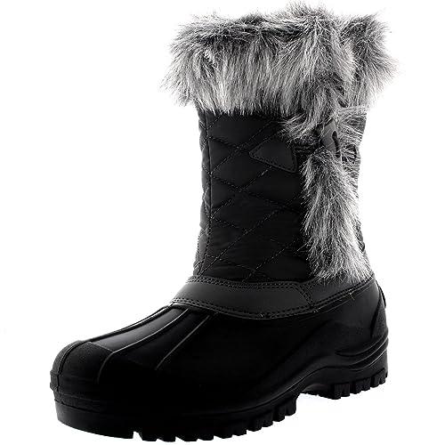 Donna Termico Toggle Polar Suola In Gomma Neve La Anatra La Inverno 6wRdxInRFq