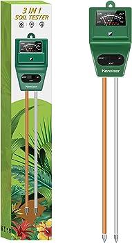 Kensizer Digital Plant Thermometer Probe Soil pH Tester