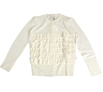 be38797f9 Image Unavailable. Image not available for. Color: Gucci Kids White Ruffle  Wool/Cashmere / Silk Sweater Top ...