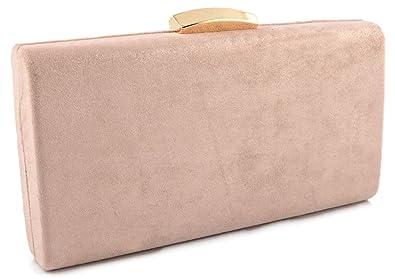 buscar original mayor selección de 2019 auténtico mis Bolso de fiesta Antelina rosa palo: Amazon.es: Zapatos y ...